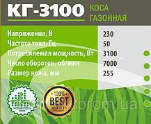 Коса электрическая Белорус КГ-3100 (Цельная штанга), фото 2