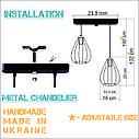 """Подвесной металлический светильник, современный стиль, loft, vintage, modern style """"KAPLIA-2"""" Е27  черный, фото 2"""