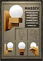 Светильник на стену, натуральное дерево, массив, текстуры дерева, нордическая лампа E14, фото 10