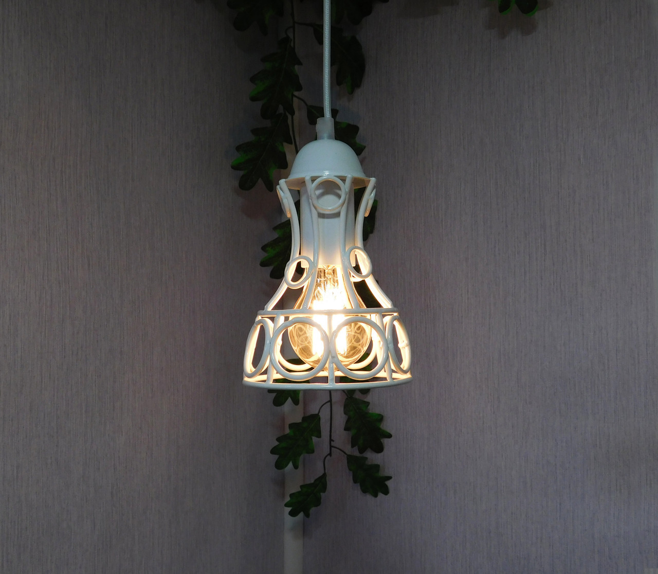 """Подвесной металлический светильник, современный стиль, loft, vintage, modern style """"RINGS-W"""" Е27  черный белый"""