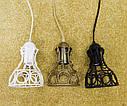 """Подвесной металлический светильник, современный стиль, loft, vintage, modern style """"RINGS-W"""" Е27  черный белый, фото 9"""