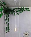 Подвесной металлический светильник, современный стиль, loft, vintage, modern style, минимализм,  белый цвет, фото 8