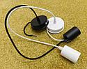 Подвесной металлический светильник, современный стиль, loft, vintage, modern style, минимализм,  белый цвет, фото 9