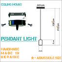 Подвесной металлический светильник, современный стиль, loft, vintage, modern style, минимализм,  красный цвет, фото 7