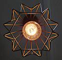 """Подвесной металлический светильник, современный стиль, loft, vintage, modern style """"SKRAB-G"""" Е27 цвет золото, фото 3"""