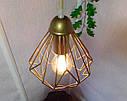 """Подвесной металлический светильник, современный стиль, loft, vintage, modern style """"SKRAB-G"""" Е27 цвет золото, фото 4"""