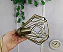"""Подвесной металлический светильник, современный стиль, loft, vintage, modern style """"SKRAB-G"""" Е27 цвет золото, фото 9"""