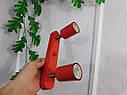 Настенный светильник, спот поворотный, потолочная лампа, на две лампы, красный цвет, фото 9