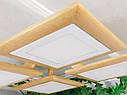 Потолочный светильник из первосортного дерева, современный стиль, квадратная форма, на 4 led панели  по 12 Вт., фото 4