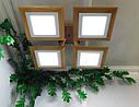 Потолочный светильник из первосортного дерева, современный стиль, квадратная форма, на 4 led панели  по 12 Вт., фото 6