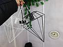 """Подвесной металлический светильник, современный стиль, loft, vintage, modern style """"CRYSTAL-W"""" Е27  белый цвет, фото 10"""