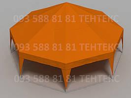 Палатка Пирамида 45 кв.метров - оранжевый