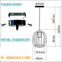 """Подвесной металлический светильник, современный стиль, loft, vintage, modern style """"BARREL"""" Е27  черный цвет, фото 6"""