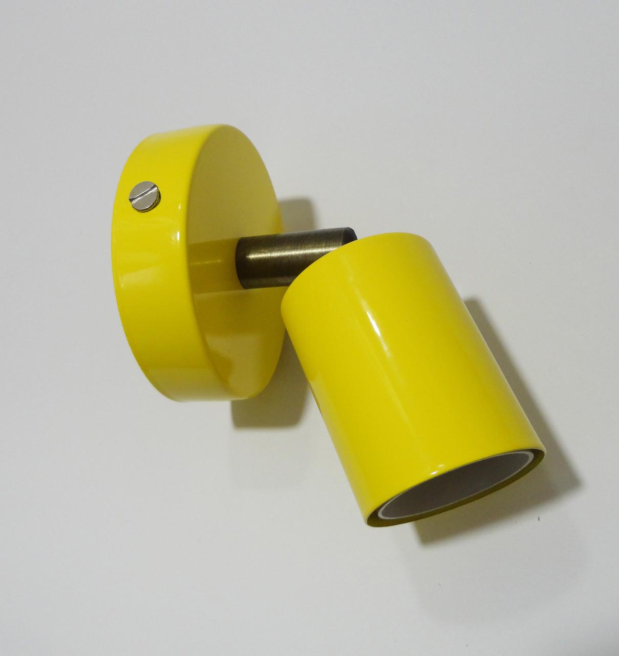 Настенный светильник, спот поворотный, потолочная лампа, на одну лампу, желтый цвет
