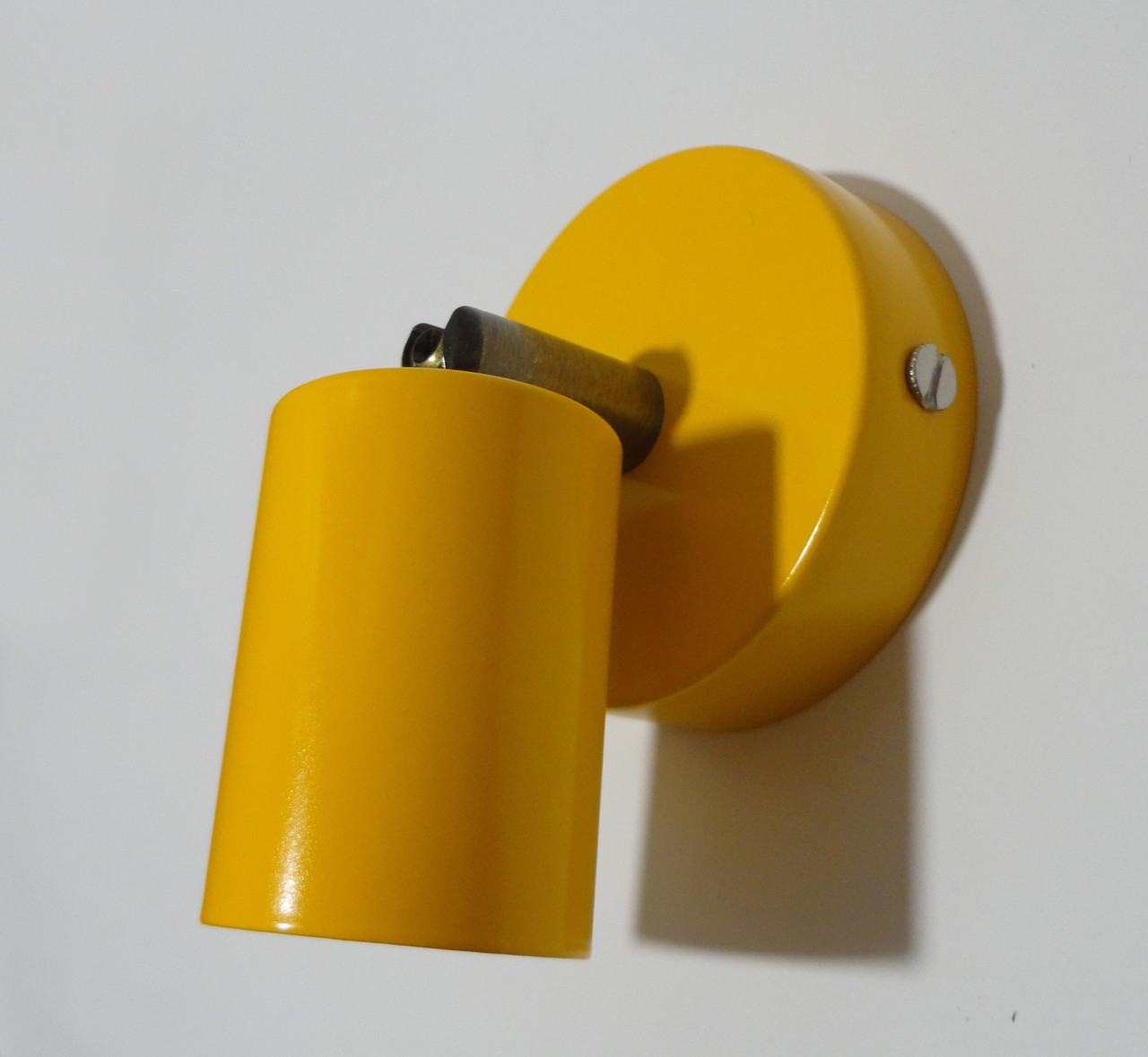 Настенный светильник, спот поворотный, потолочная лампа, на одну лампу, оранжевый цвет