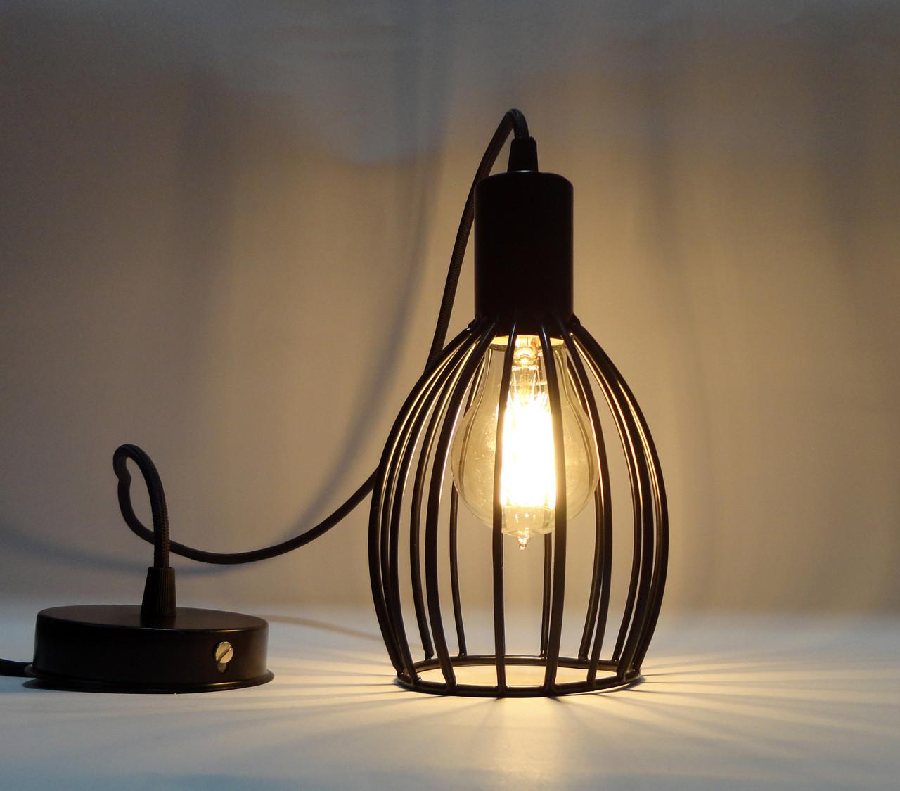 """Подвесной металлический светильник, современный стиль, loft, vintage, modern style """"CACHE"""" Е27 черный цвет"""