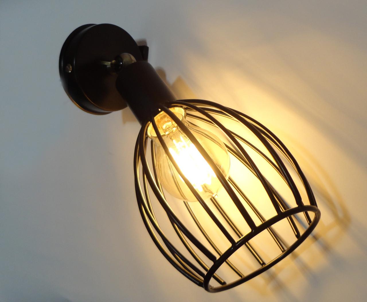 """Настенный светильник, спот поворотный, потолочная лампа, на одну лампу, черный цвет """"CACHE/LS"""""""