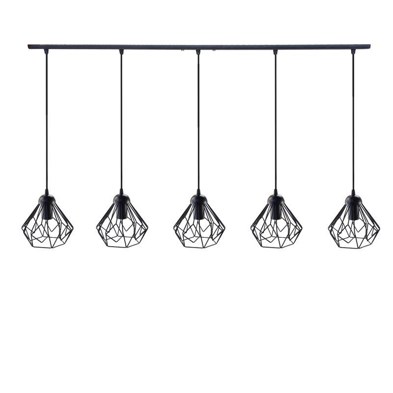 """Подвесной металлический светильник, современный стиль, loft, vintage, modern style """"SKRAB-5"""" Е27  черный цвет"""