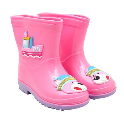 Детские резиновые сапоги, розовые, размер 26 (16 см) (513795-3)