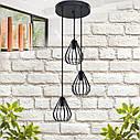"""Подвесной металлический светильник, современный стиль, loft, vintage, modern style """"KAPLY-3G"""" Е27  черный цвет, фото 2"""
