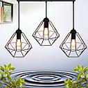 """Подвесной металлический светильник, современный стиль, loft, vintage  """"CLASSIC-3"""" Е27  черный цвет, фото 2"""