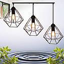 """Подвесной металлический светильник, современный стиль, loft, vintage  """"CLASSIC-3"""" Е27  черный цвет, фото 3"""