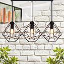 """Подвесной металлический светильник, современный стиль, loft, vintage  """"CLASSIC-3"""" Е27  черный цвет, фото 6"""