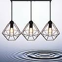 """Подвесной металлический светильник, современный стиль, loft, vintage  """"CLASSIC-3"""" Е27  черный цвет, фото 7"""