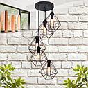 """Подвесной металлический светильник, современный стиль, loft, vintage  """"CLASSIC-5G"""" Е27  черный цвет, фото 3"""