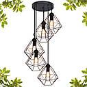"""Подвесной металлический светильник, современный стиль, loft, vintage  """"CLASSIC-5G"""" Е27  черный цвет, фото 5"""
