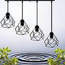 """Подвесной металлический светильник, современный стиль, loft, vintage, modern style """"RUBY-4"""" Е27  черный цвет, фото 4"""