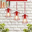 """Подвесной металлический светильник, современный стиль, loft, vintage """"SANDBOX-3R"""" Е27  красны цвет, фото 2"""
