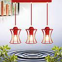 """Подвесной металлический светильник, современный стиль, loft, vintage """"SANDBOX-3R"""" Е27  красны цвет, фото 3"""