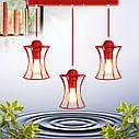 """Подвесной металлический светильник, современный стиль, loft, vintage """"SANDBOX-3R"""" Е27  красны цвет, фото 4"""