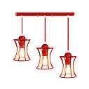 """Подвесной металлический светильник, современный стиль, loft, vintage """"SANDBOX-3R"""" Е27  красны цвет, фото 6"""