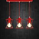 """Подвесной металлический светильник, современный стиль, loft, vintage """"SANDBOX-3R"""" Е27  красны цвет, фото 7"""