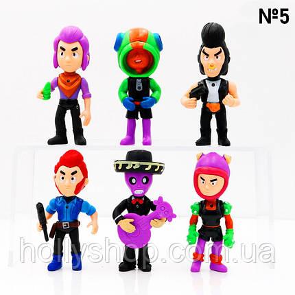 Набір фігурок Бравл Старс 6 фігурок з аксесуарами №5, фото 2