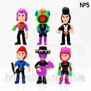 Набір фігурок Бравл Старс 6 фігурок з аксесуарами №5