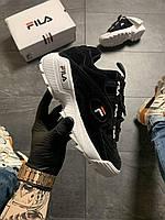 Женские кроссовки Fila D-Formation Black White