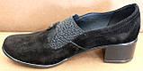 Туфли черные женские большого размера на полную ногу от производителя модель БД8КВ, фото 8