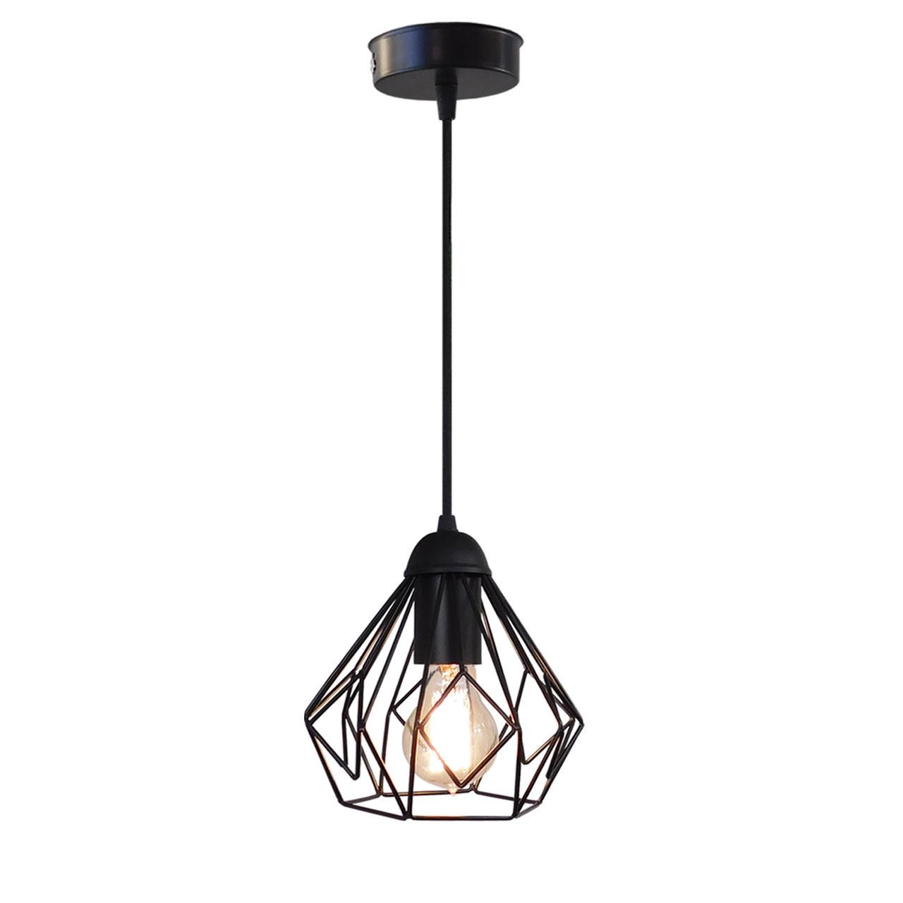 """Подвесной металлический светильник, современный стиль """"SKRAB"""" Е27  черный цвет"""