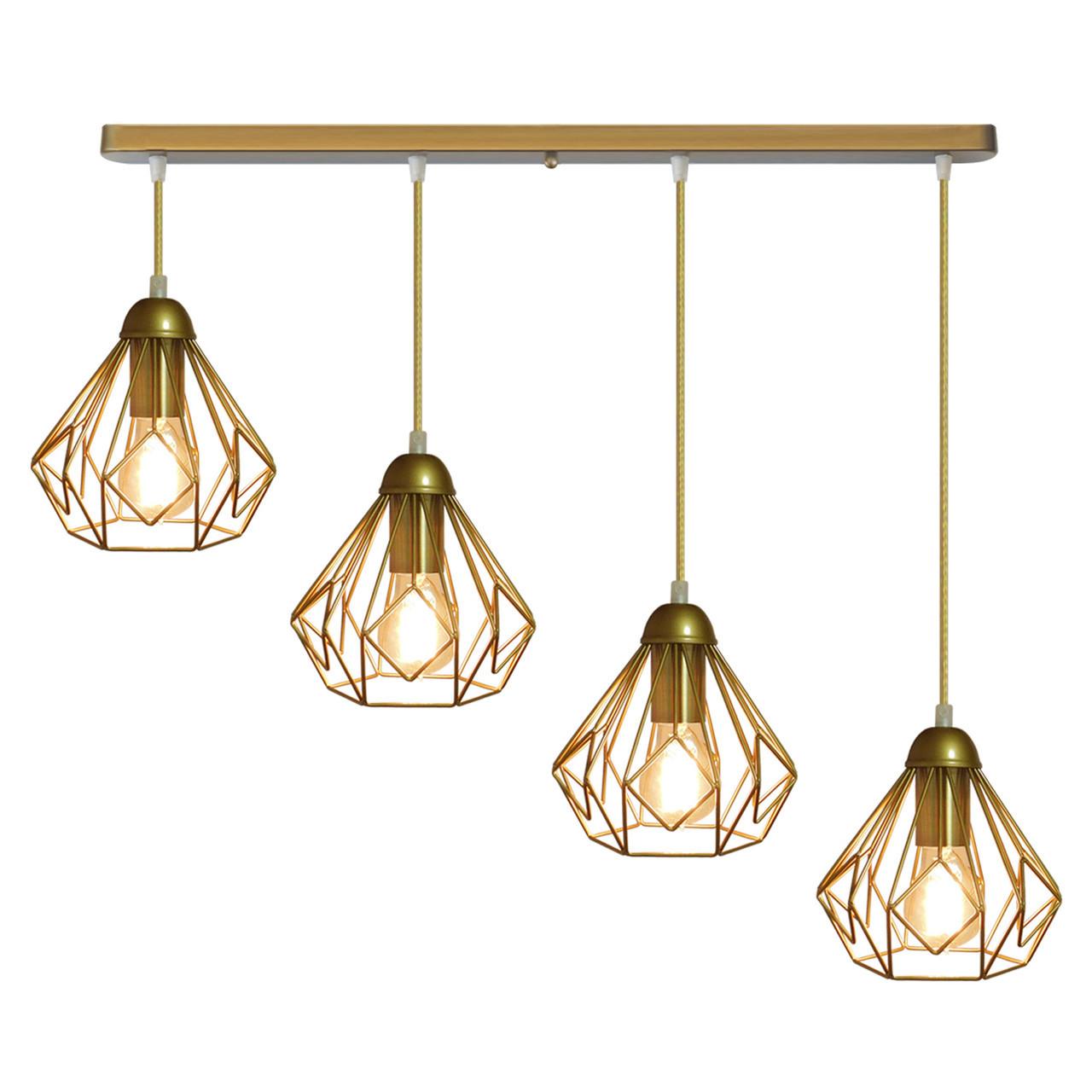 """Подвесной металлический светильник, современный стиль  """"SKRAB-4G"""" Е27  золотистый цвет"""
