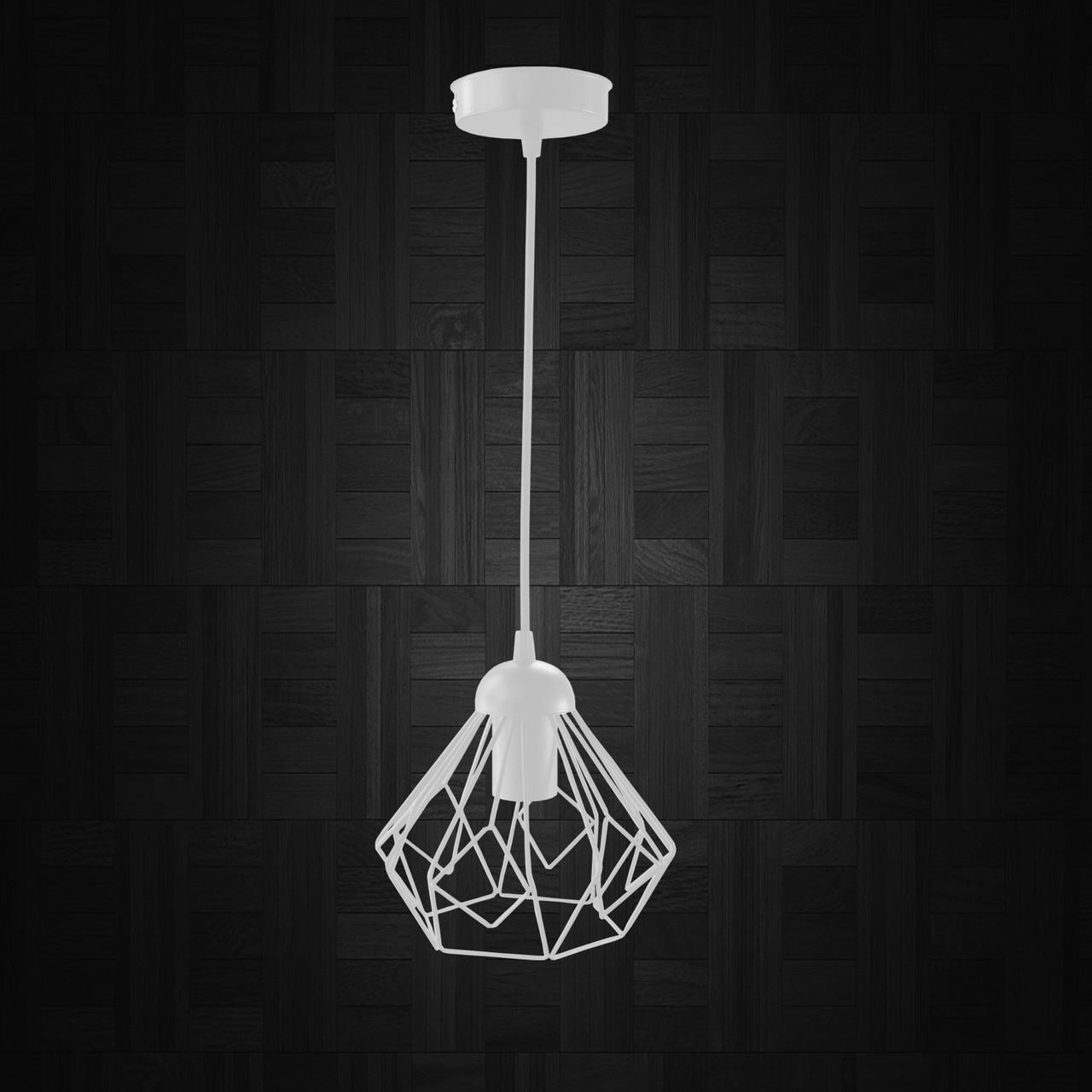 """Подвесной металлический светильник, современный стиль """"SKRAB-W"""" Е27  белый цвет"""