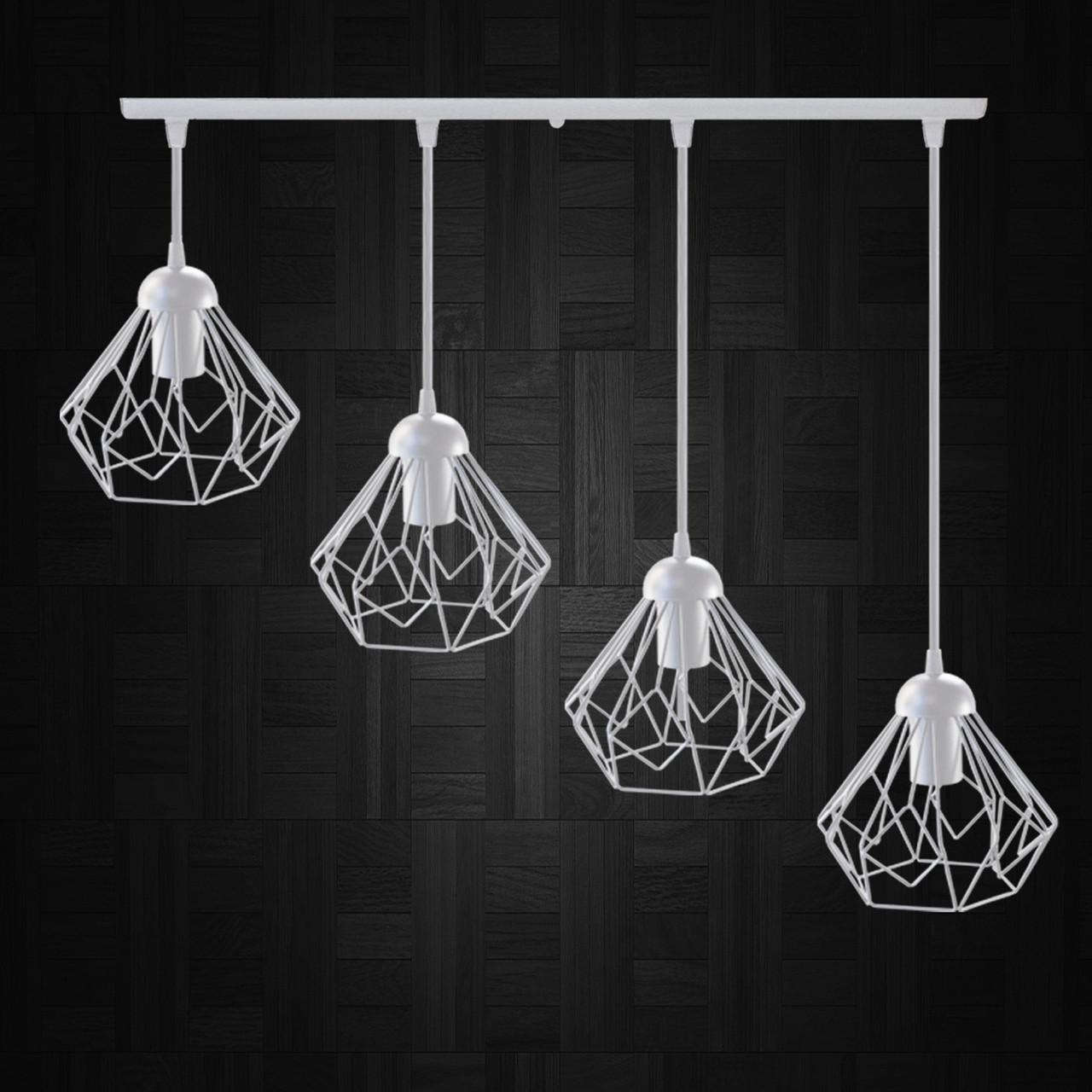 """Подвесной металлический светильник, современный стиль  """"SKRAB-4W"""" Е27  белый цвет"""