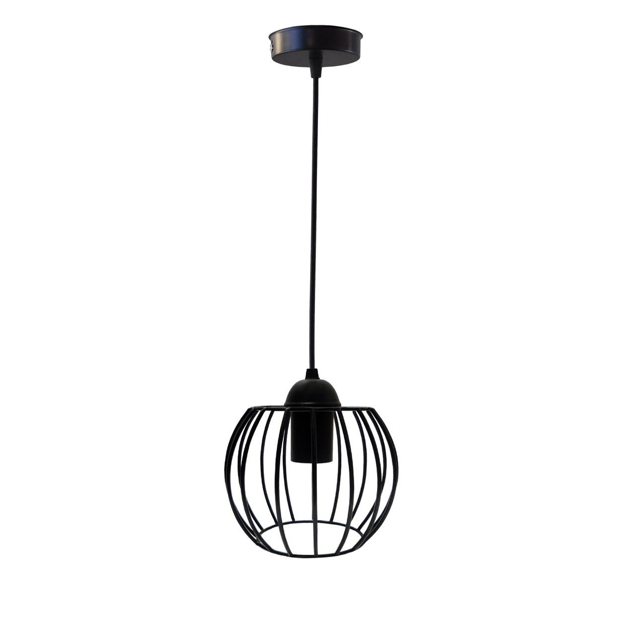 """Подвесной металлический светильник, современный стиль """"BARREL"""" Е27  черный цвет"""