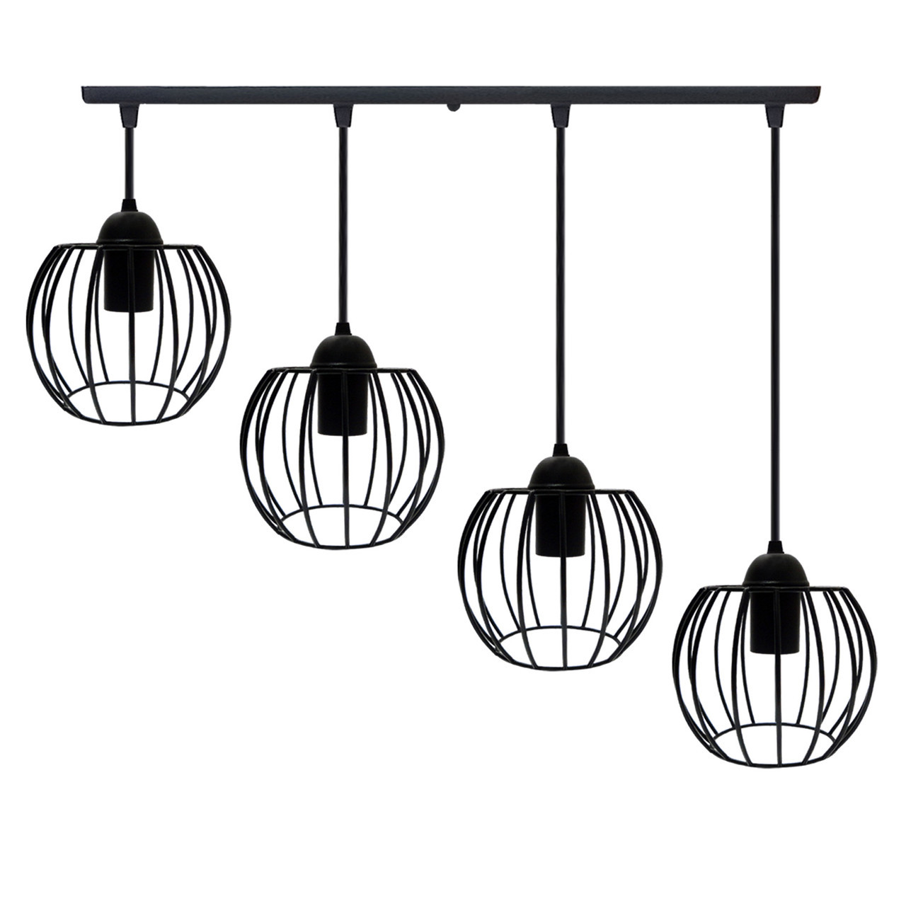 """Подвесной металлический светильник, современный стиль  """"BARREL-4"""" Е27  черный цвет"""