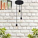 """Подвесной металлический светильник, современный стиль минимализм """"CEILING-3"""" Е27 черный цвет, фото 2"""