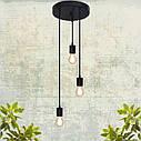 """Подвесной металлический светильник, современный стиль минимализм """"CEILING-3"""" Е27 черный цвет, фото 3"""