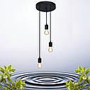 """Подвесной металлический светильник, современный стиль минимализм """"CEILING-3"""" Е27 черный цвет, фото 6"""