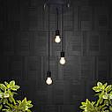 """Подвесной металлический светильник, современный стиль минимализм """"CEILING-3"""" Е27 черный цвет, фото 8"""
